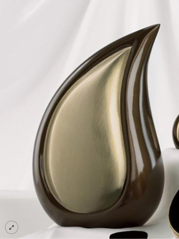 10 inch Adult Teardrop Urn Bronze