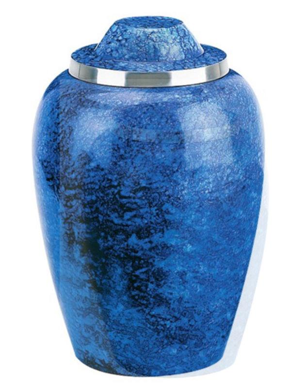 10 inch Cobalt Blue Alloy Urn