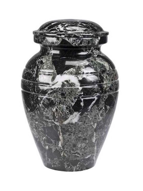 11.5inch Black Grain Marble Urn