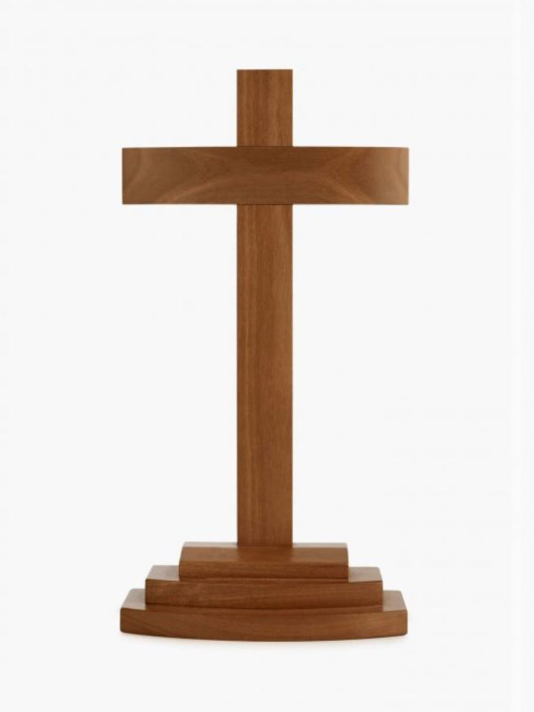 American Style Curved Crucifix Stand