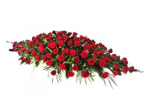 Red-Roses-double ended Casket-Spray for Greek Orthodox funerals cultural funerals