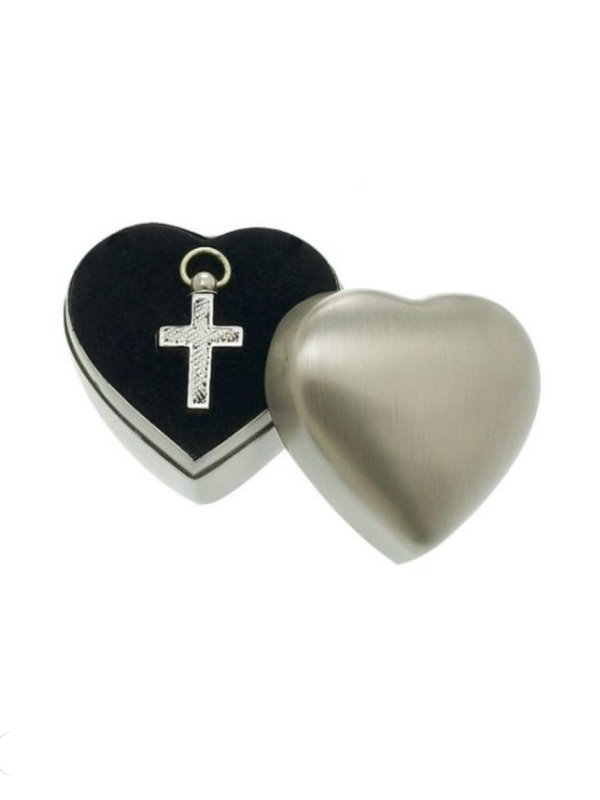 Silver Cross Pendant with case