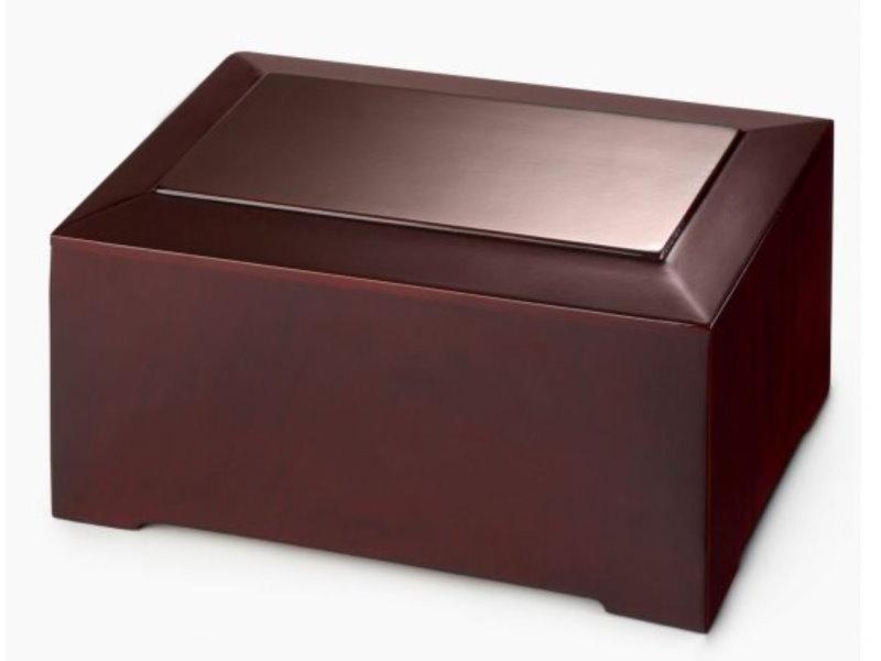 Cremation urn wooden